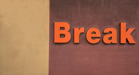 Break text on cement wall for background, wallpaper