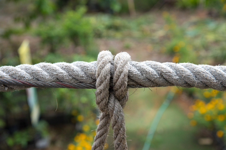 Rope knot for bridges