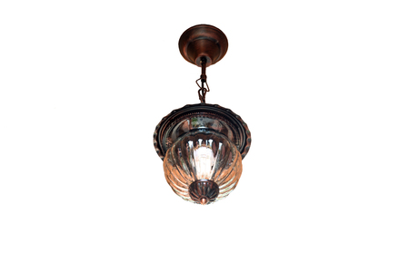 Vintage chandelier lamp style hanging on the ceiling