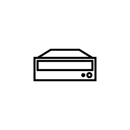 DVD ROM icon outline or line style vector illustration. computer hardware and accessories
