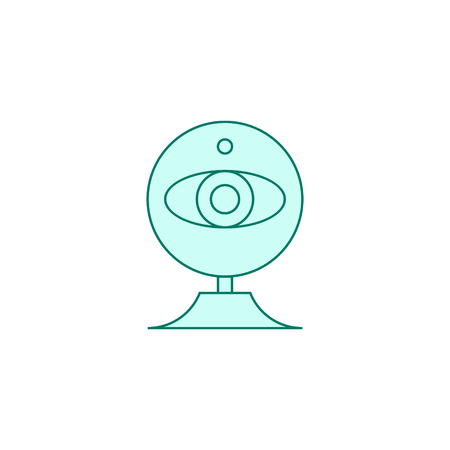 web cam icon filled outline or line style vector illustration. computer hardware and accessories Ilustración de vector