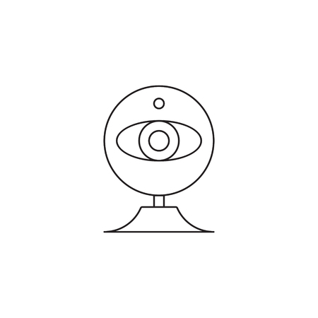 web cam icon outline or line style vector illustration. computer hardware and accessories
