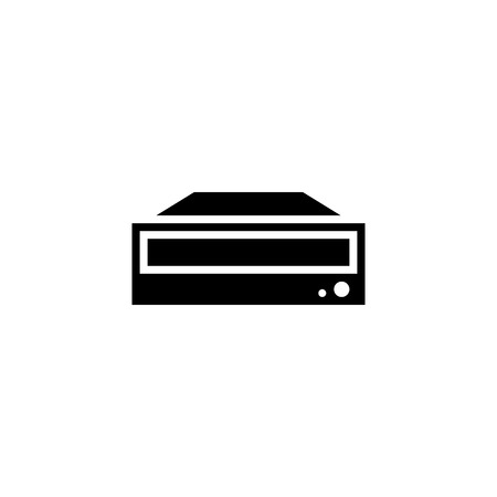 DVD ROM icon glyph or solid style vector illustration. computer hardware and accessories Illustration