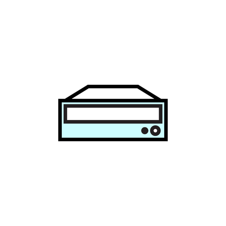 DVD ROM icon filled outline or line style vector illustration. computer hardware and accessories