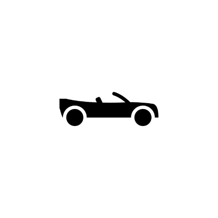 convertibles car icon solid. vehicle and transportation icon stock. vector illustration