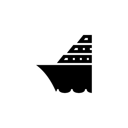 cruise ship icon solid. vehicle and transportation icon stock. vector illustration