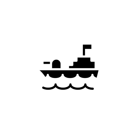 war ship icon solid. vehicle and transportation icon stock. vector illustration