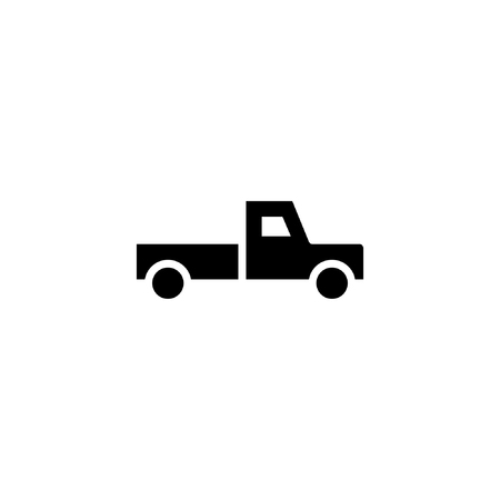 pickup truck icon solid. vehicle and transportation icon stock. vector illustration