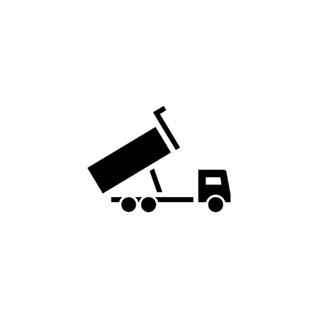 dump truck icon solid. vehicle and transportation icon stock. vector illustration