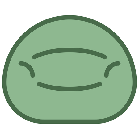 Bean Bag Icon filled line style. Furniture icon. household appliances. vector eps10 illustration