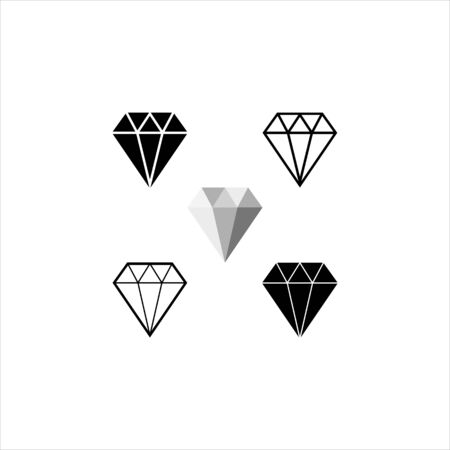 Diamond Icon. Crystal Vector. Jewerly Illustration Isolated On White Background