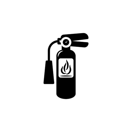 Extinguisher Icon Vector Flat Illustration Design Isolated on White Background. symbol of protection from flame