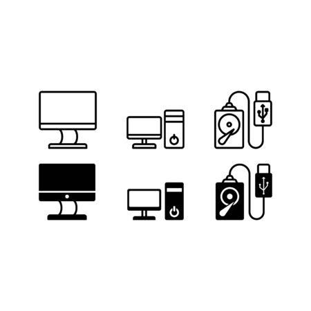 computer icon vector isolated on white background