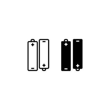 battery icon vector isolated on white background