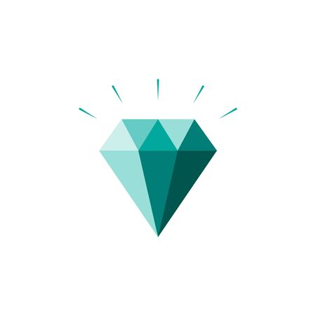 Diamond Icon. Crystal Vector. Jewerly Illustration Isolated On White Background. sign for mobile concept and web design. 일러스트