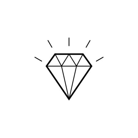 Diamond Icon. Crystal Vector. Jewerly Illustration Isolated On White Background. sign for mobile concept and web design. Illustration