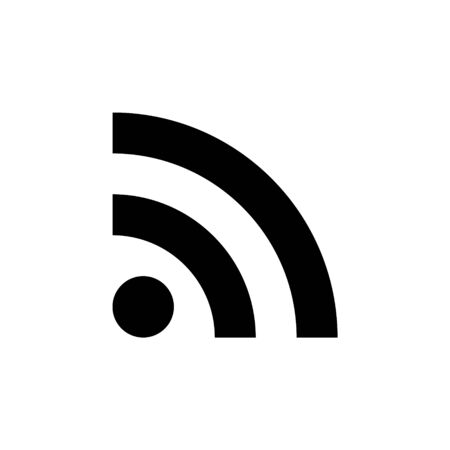 RSS Feed Icon. Wifi Signal Symbol Isolated On White Background for UI Element design