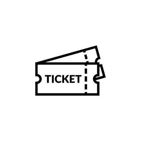 Movie Ticket Icon. Coupon Vector. Isolated On White Background Illustration