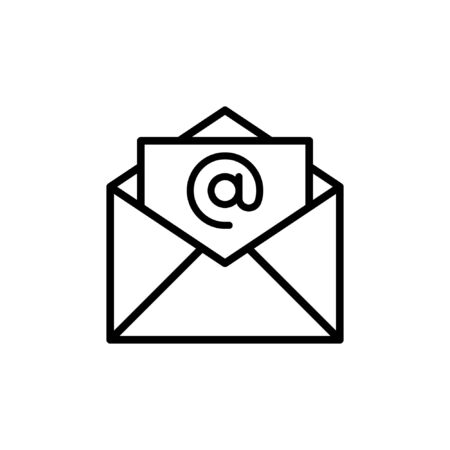 Mail Icon. Open Email Vector Symbol For Website or mobile App