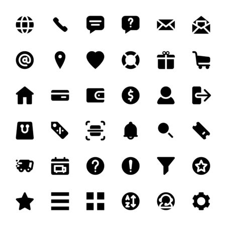 set of ecommerce icons for online store website and mobile app. Foto de archivo - 129917934