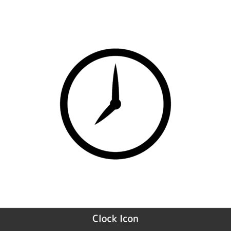 Clock icon for time symbol is used for schedule information. Vector EPS10 Illustration 向量圖像