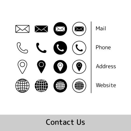 Icon Collection For Business Card. vector EPS10