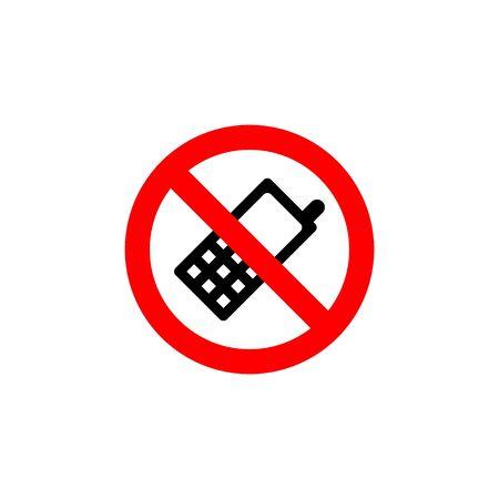 no mobile phones for public information sign vector EPS10 illustration