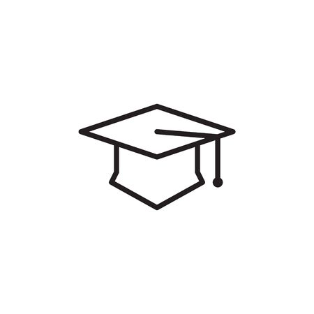academy hat icon. university graduation cap icon