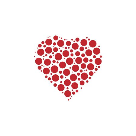 Heart Shape with Red abstract Heart fill. EPS10 vector illustration