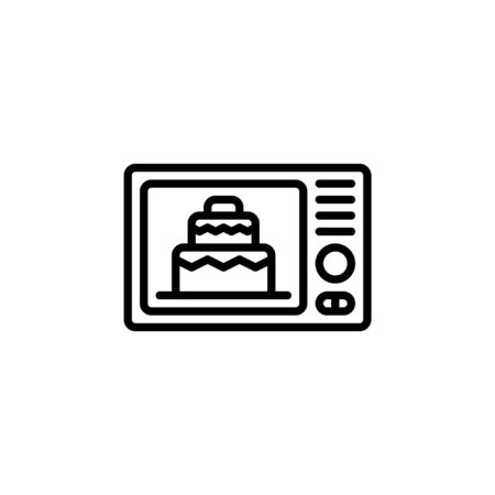 cook a cake icon vector with outline style
