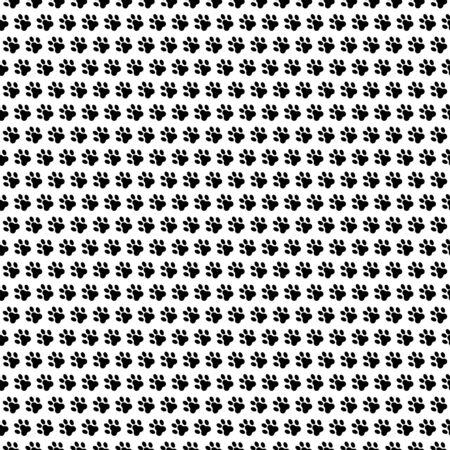 dog footprint seamless pattern vector. paw foot print background texture.
