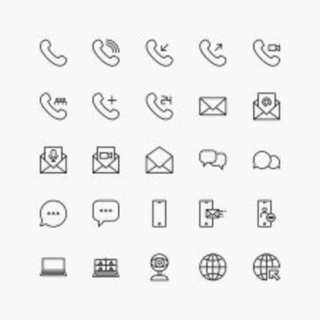 set of communication icons vector for any purposes.