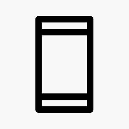 mobile phone icon with portrait orientation as symbol for locked orientation isolated on white background