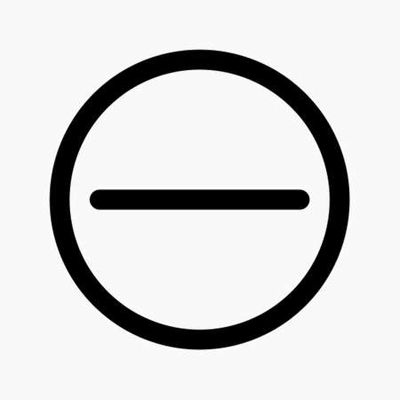 stop sign icon vector. no available sign for denied access, do not enter etc. suitable for any purposes.