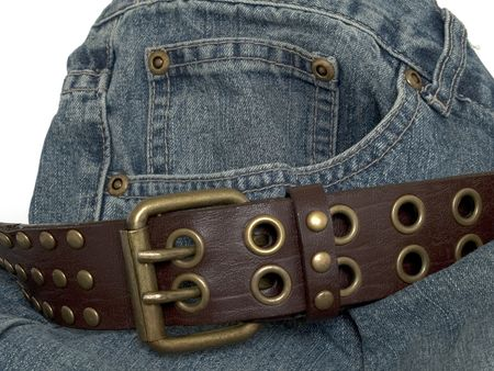 hardy: Denim and belt