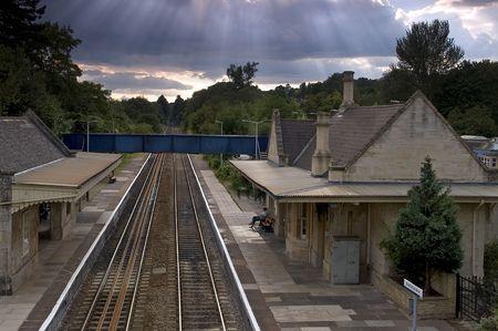 avon: Bradford on Avon train station in Wiltshire England