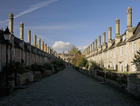 The oldest lived in street in Europe located in the city of Wells in Somerset England Stock Photo - 268303