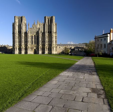 house of prayer: Wells Cathedral located in Somerset England