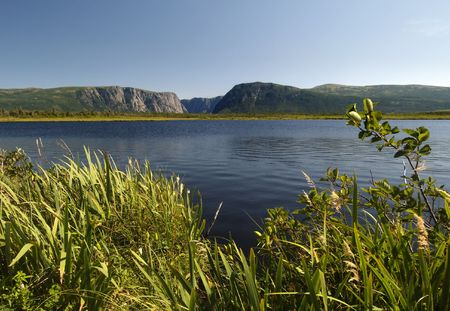 Western Brook Pond located in Newfoundland Canada Stock Photo - 530452