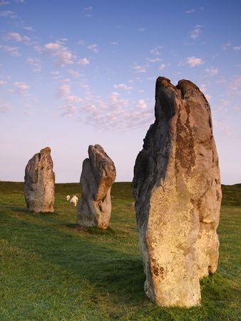 wiltshire: Avebury Stones in Wiltshire England