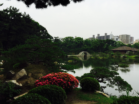 hiroshima: Shukkien Garden, Hiroshima Japan Stock Photo