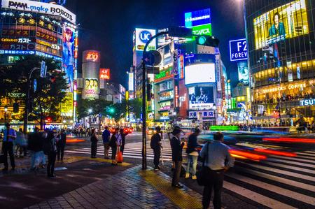 paso peatonal: Paso de peatones Shibuya, Tokio, Japón