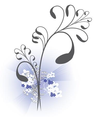 hitched: wedding ornamental flower background