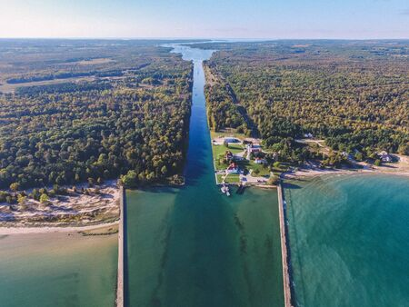 Aerial Drone Photography | Sturgeon Bay Ship Canal | Door County