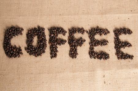 spelled: Coffee spelled in beans