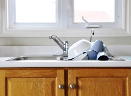 messy room: Dishes in Sink