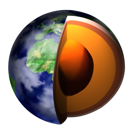 core: Earth cross section showing core Stock Photo