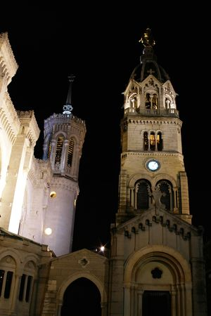 re: fourvi�re basilica at lyon in france Stock Photo