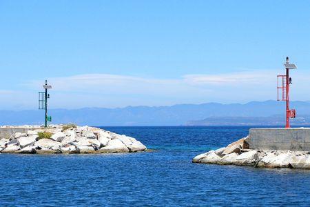 sardaigne: Port d'entr�e, en sardaigne en italie