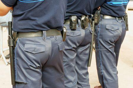 supervise: french gendarmes